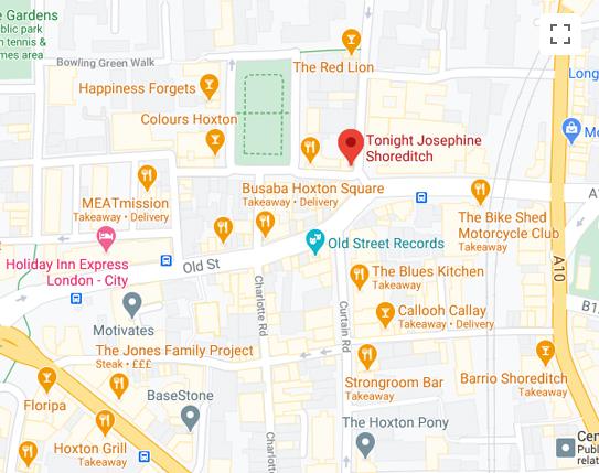Tonight Josephine Shoreditch Map
