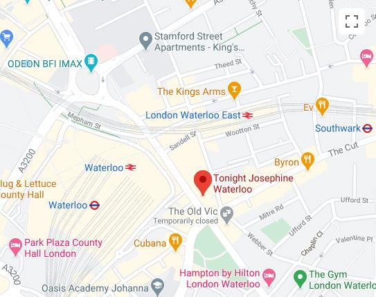 Tonight Josephine Waterloo Map
